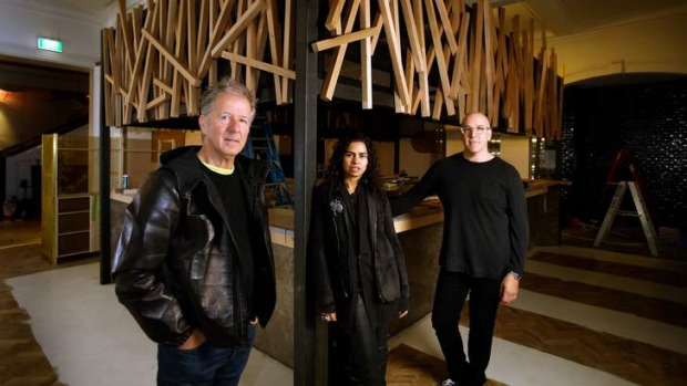 From left: Stokehouse co-owner Frank van Haandel, interior designer Pascale Gomes-McNabb and general manager Anthony ...