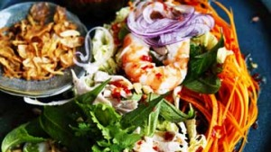 Vietnamese prawn and chicken coleslaw.