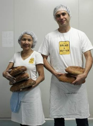 Rising star: Trainee baker Ma Du with Paul Allam, of the Bread and Butter Project.