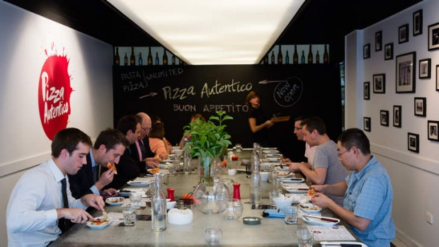 No limit: diners at Pizza Autentico can eat as much as they want over a 90-minute period.