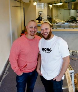 Chefs Benjamin Cooper, left, and Daniel Briggs.