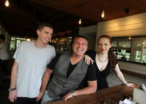 Peter Sullivan with Luke, 19, and Megan, 21, at Chiswick.