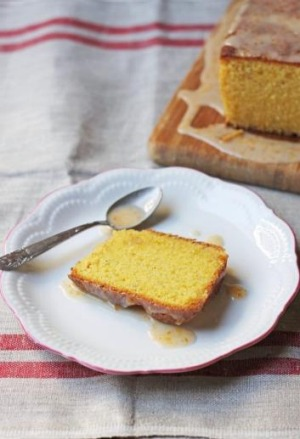 Polenta and almond pound cake.