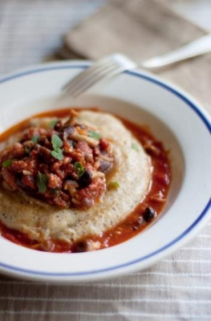 Polenta with sausage ragu