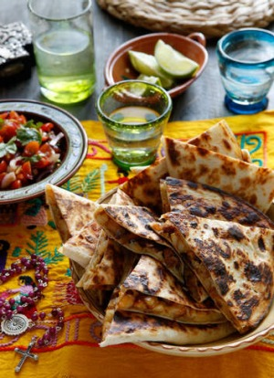 These chorizo quesadillas make a festive (and quick) family dinner.