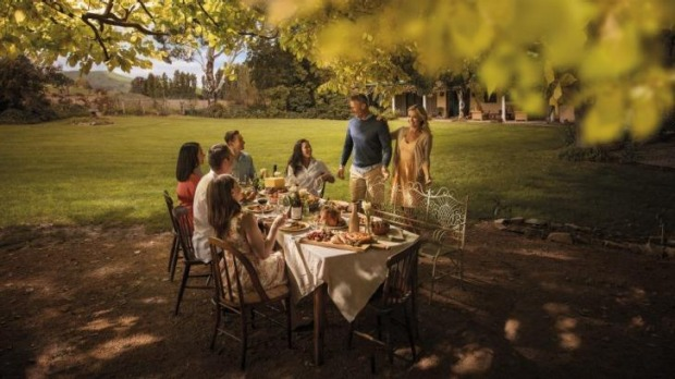A still from Tourism Australia's new campaign Restaurant Australia, featuring the Poachers Pantry.