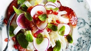 Fennel and blood orange salad.