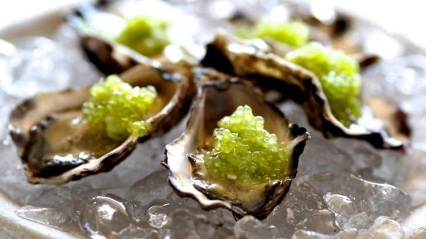 Try oysters topped with fingerlimes.