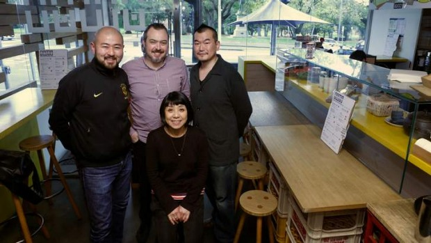 New venture: Takashi Omi, Simon Denton, Kentaro Usami and Miyuki Nakahara will open Kappo in September.