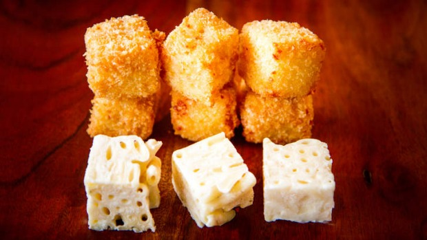 Hip to be square: It's a bit hard to go past deep-fried mac and cheese.