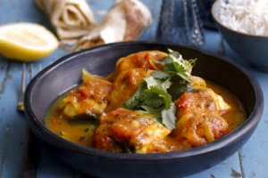 Simple fish curry.
