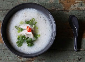 By Two Sisters' Vietnamese chicken congee.