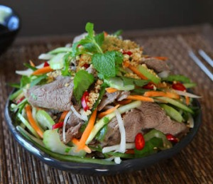By Two Sisters' Vietnamese beef salad.