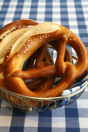 House baked pretzels are on the menu for the German matches at Lowenbrau.