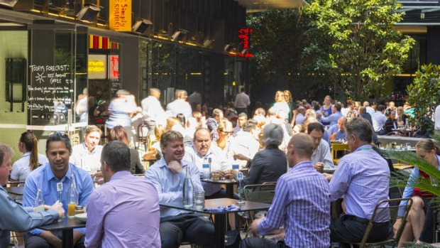 Eating out: The revived St James precinct.