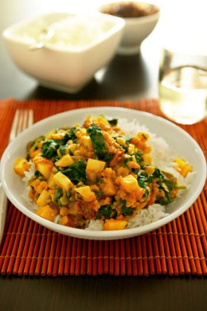 Spinach chana dhal.