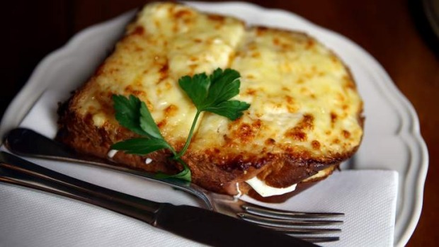 Good and proper: Croque-monsieur at Rouge Cafe.