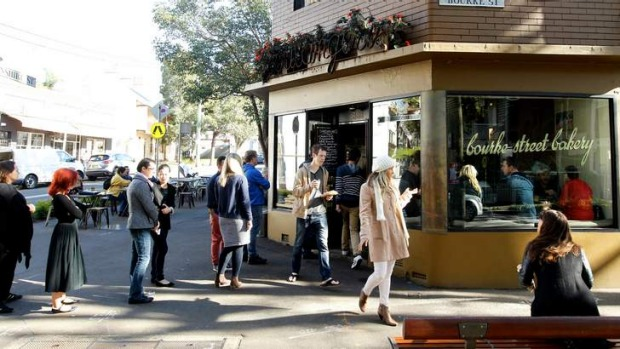 Good enough to wait: Long queues at Bourke Street Bakery.