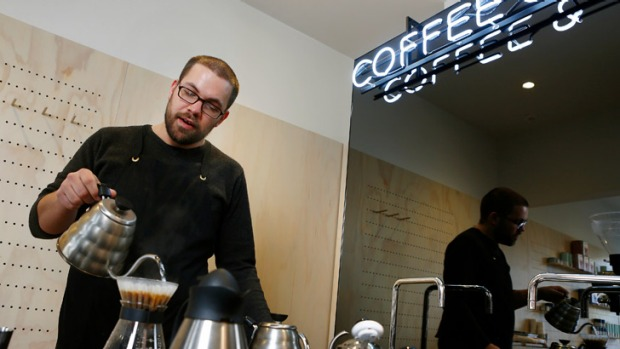 Quality the key: Ollie Mckay brews at Assembly in Carlton.