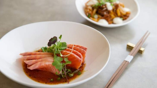 Go-to dish: Petuna ocean trout with mirin and wasabi.