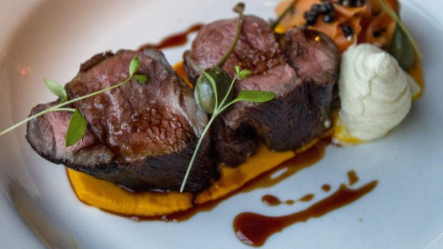 Lamb Rump On A Bed Of Carrot Puree