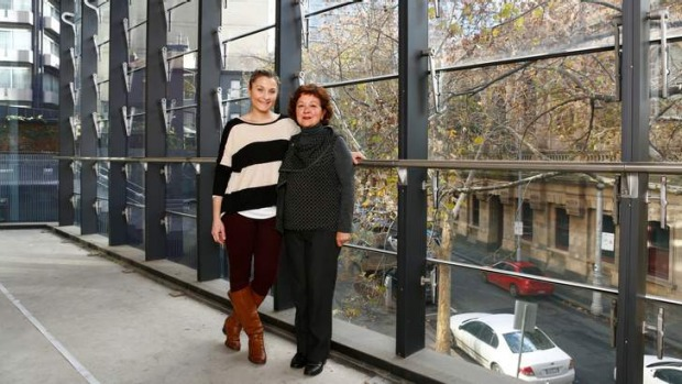 Italian spread: Co-owner Rosa Mitchell (right) and fellow chef Lucy David at the site of Rosa's Canteen.