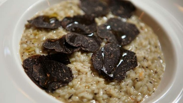 Risotto with lashings of winter truffle at Cecconi's.