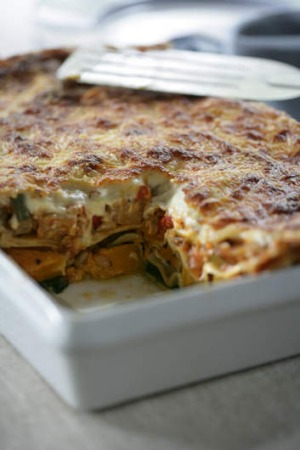 Jane and Jeremy Strode's vegetable lasagne.