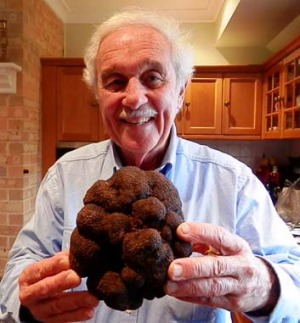 Ted Smith with the truffle.