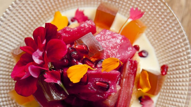 Vivid: Rhubarb works well in puddings, crumbles and pies.
