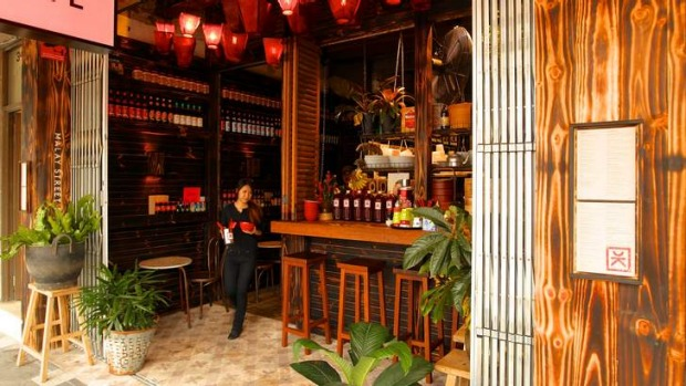 Sweet and homely: Chinta Kechil in Double Bay is like a charming 1960s night-market stall.
