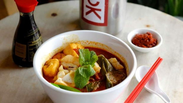 Space is at a premium but worth it for seafood laksa.