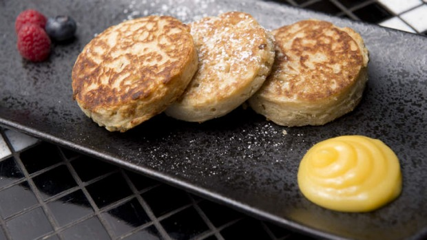 Coconut crumpets at Chow House.