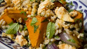 Roast pumpkin with farro.