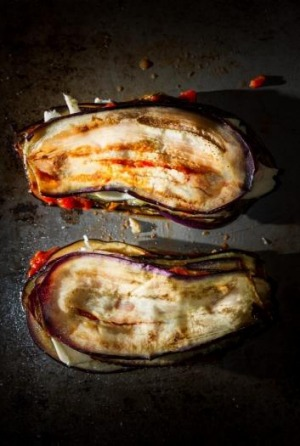 Antonio Carlucci's dish was a simple eggplant parmigiana based on thin sliced eggplant, various cheese and a simple ...