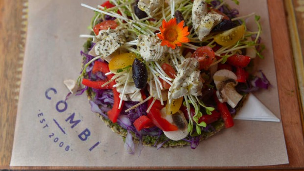 Colourful: Raw pizza at Combi.