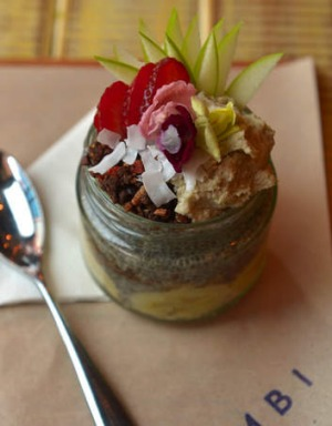Party in a jar: Combi's layered chia parfait.