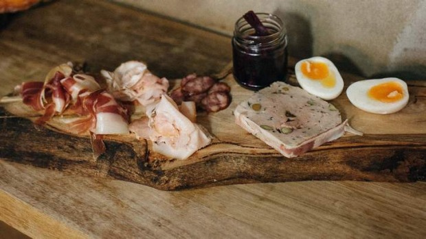 Go-to dish: Charcuterie plate with boiled egg.