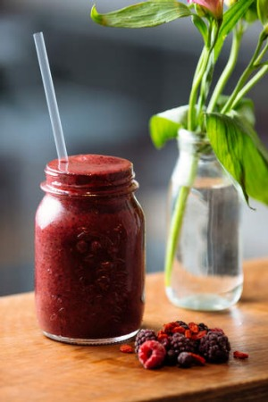 A blueberry and acai smoothie from Green Press.