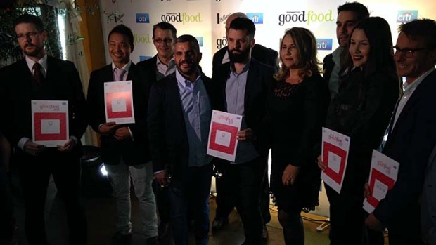 Some of the award winners at the Brisbane Times Good Food Guide launch.