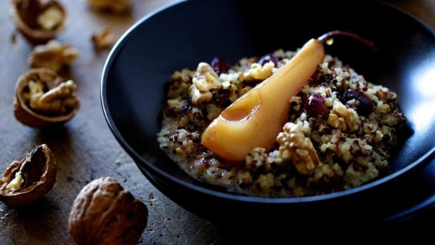 Quinoa porridge: Sustaining, comforting and sweet.