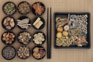 Healthy ties: Chinese herbs.