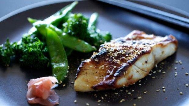 Miso cod with sesame greens recipe good food for Miso sauce for fish