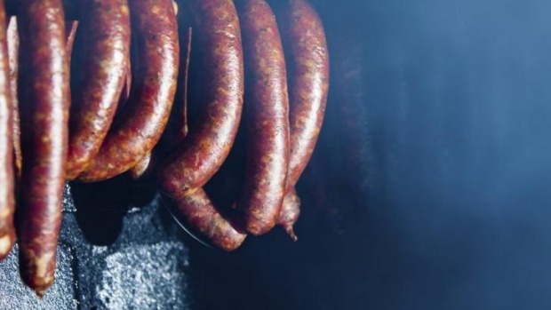 Flavourful: Smoked sausages.