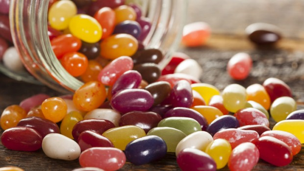 Shine on: Shellac looks great on nails ... and jelly beans.