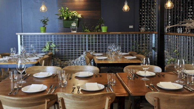 Vitis Eatery is an urban warehouse-style space.