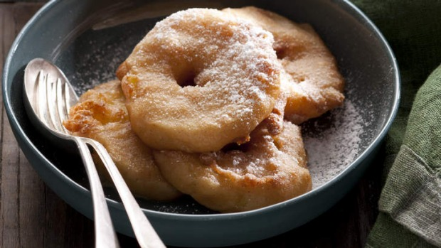 Simple treat: Apple fritters.