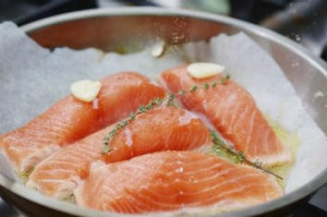 Salmon: Firm, but not as tasty and delicate as ocean trout.