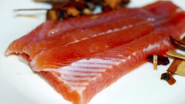 Fresh trout: One of Tasmania's tastiest exports to the mainland.