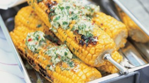 Corn with chilli lime butter